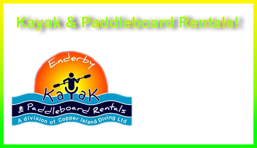 Copper Island Diving Kayak & Paddleboarding Rentals!
